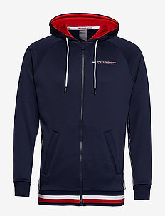 KNIT FZ HOODY TAPE, - SPORT NAVY