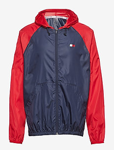 WINDBREAKER WITH BAC - vestes et manteaux - sport navy multi