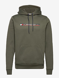 FLEECE LOGO HOODY - BEETLE