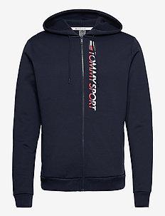 FLEECE ZIP UP HOODY - hoodies - sport navy