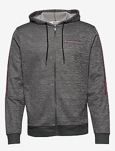 CLASSICS FLEECE FZ HOODED TOP - DARK GREY HEATHER