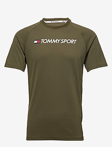 TRAINING TOP MESH LOGO - ARMY GREEN