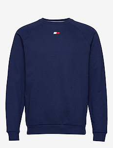 FLEECE CREW LOGO - basic sweatshirts - blue ink