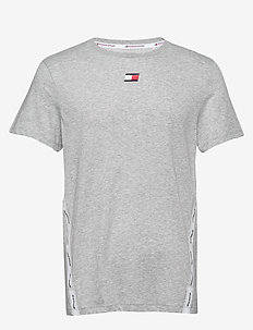 TAPE LOGO TOP - GREY HEATHER