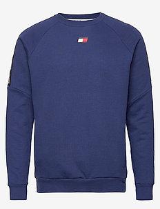 FLEECE TAPE CREW - basic sweatshirts - blue ink