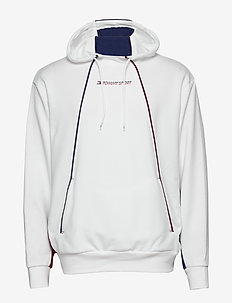 FLEECE HOODY - WHITE