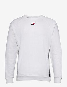FLEECE TAPE CREW - sweaters - white