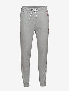 PIPING FLEECE CUFFED PANT - sweatpants - grey heather