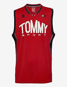 BASKETBALL ICONIC TANK TOP - treenitopit - primary red