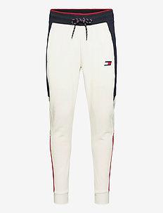 CUFFED BLOCKED  FLEECE PANT - sweatpants - grey heather