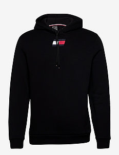 FLAG FLEECE HOODY - hoodies - pvh black