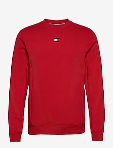 BLOCKED FLEECE CREW - longsleeved tops - primary red