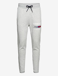 GRAPHIC FLEECE PANT CUFFED - sports pants - grey heather