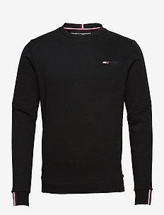 LOGO FLEECE CREW - basic-sweatshirts - black