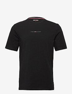 STRIPE LOGO TEE - t-shirts - black