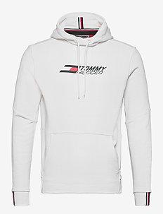 TERRY LOGO HOODY - basic sweatshirts - white