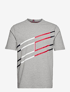 GRAPHIC COTTON TEE - t-shirts - light grey heather