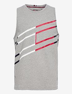 GRAPHIC TANK TOP - sporttoppar - light grey heather