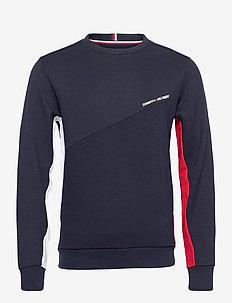 BLOCKED TERRY CREW - basic sweatshirts - desert sky