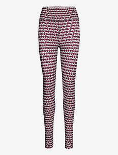 HW AOP LEGGING - leggings - th cube all over red