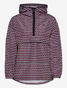 PULLOVER AOP POLY JACKET - anoraker - th cube all over red