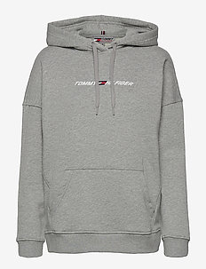 RELAXED GRAPHIC HOODIE LS - huvtröjor - light grey heather
