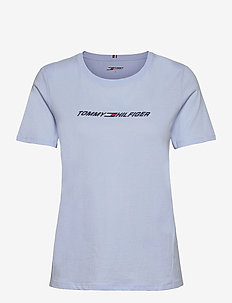 REGULAR C-NK GRAPHIC TEE SS - t-shirts - sweet blue