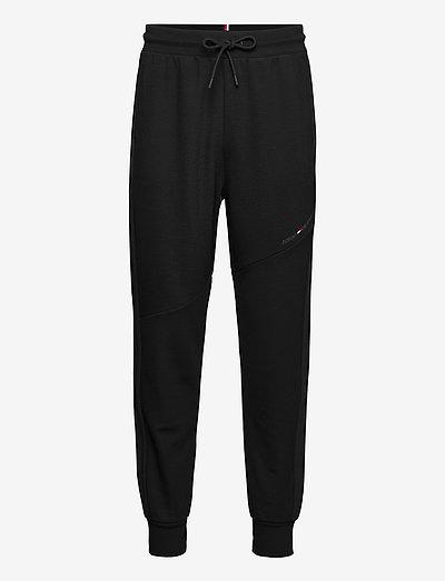 BLOCKED TERRY PANT - sweatpants - black