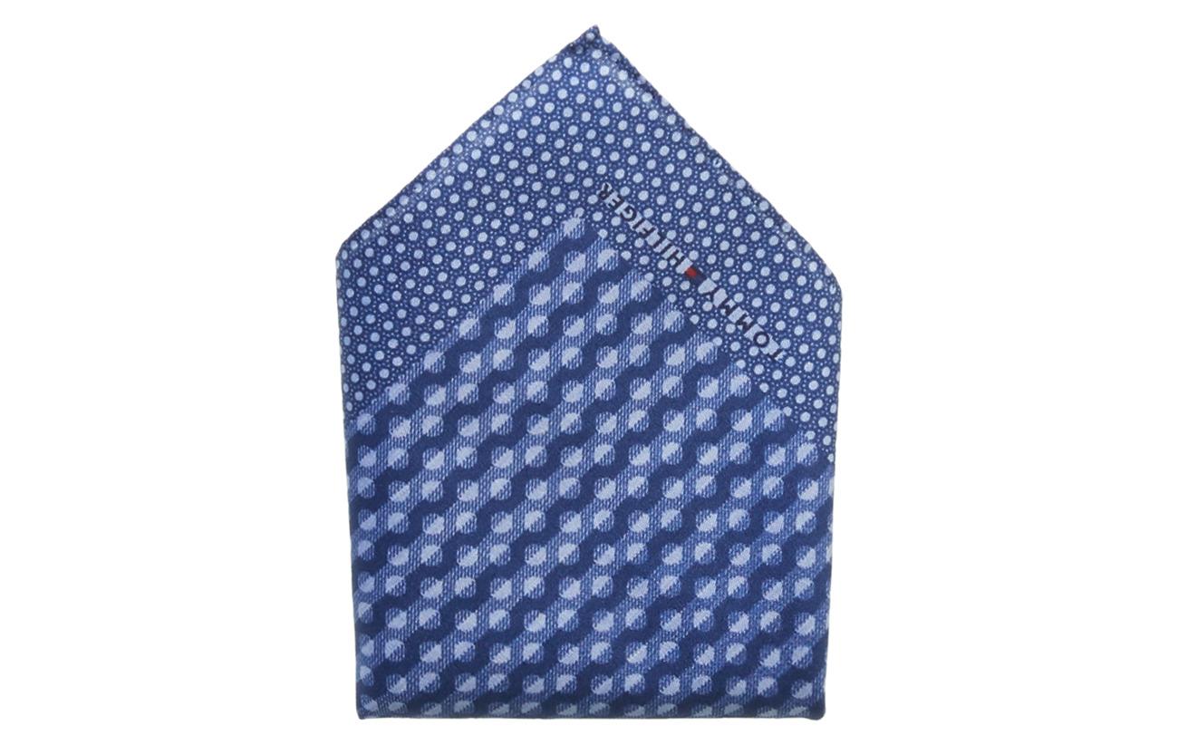 Tommy Hilfiger Tailored SILK DOT POCKET SQUA - INDIGO BLUE