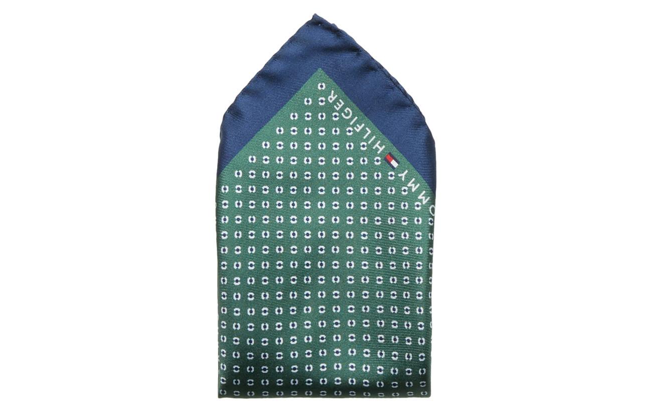 Tommy Hilfiger Tailored SILK PRINT POCKET SQ - MULTI GREEN