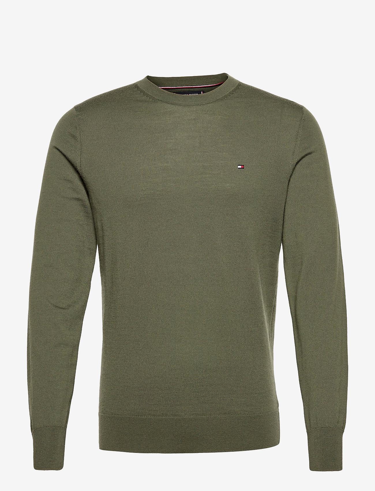 Tommy Hilfiger Tailored - FINE GAUGE MERINO WOOL CREW NECK - basic knitwear - rocky mountain - 0