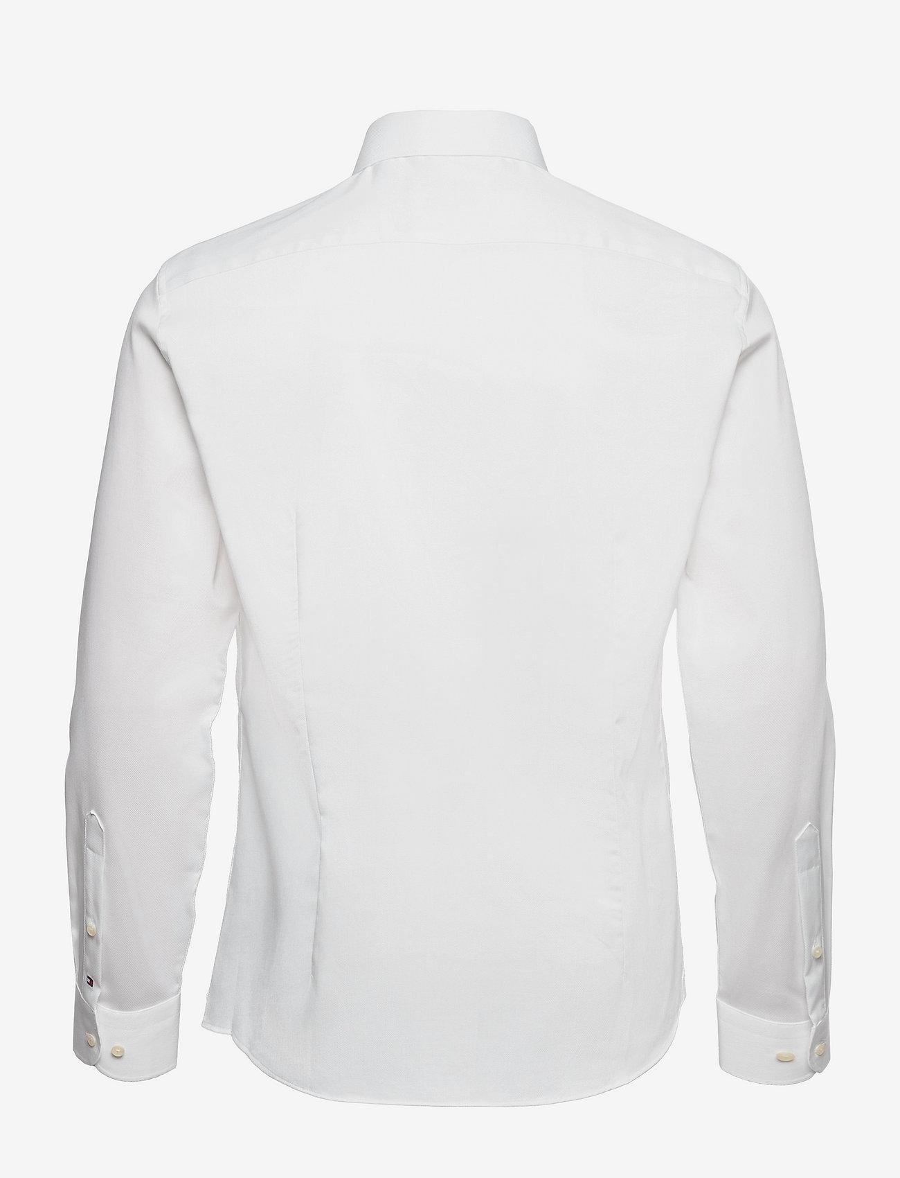 Tommy Hilfiger Tailored - DOBBY FLEX COLLAR SLIM SHIRT - basic shirts - white - 1