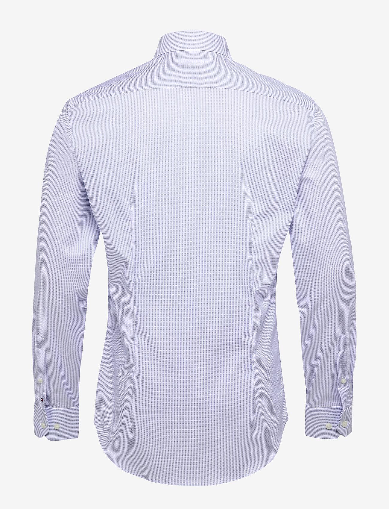 Tommy Hilfiger Tailored - STRIPE FLEX COLLAR SLIM SHIRT - basic skjorter - cobalt/white - 1