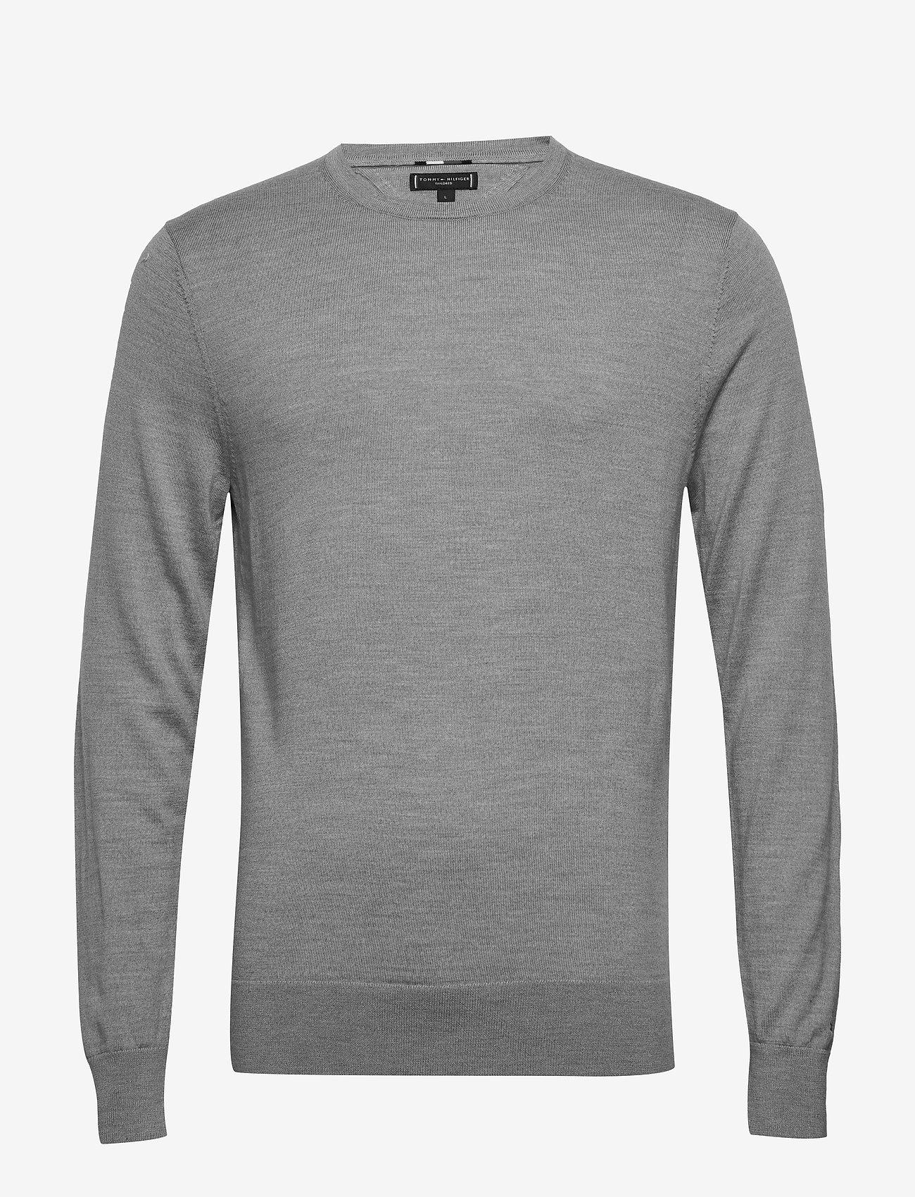 Tommy Hilfiger Tailored - FINE GAUGE LUXURY WOOL CREW NECK - pulls col rond - heather grey melange - 0