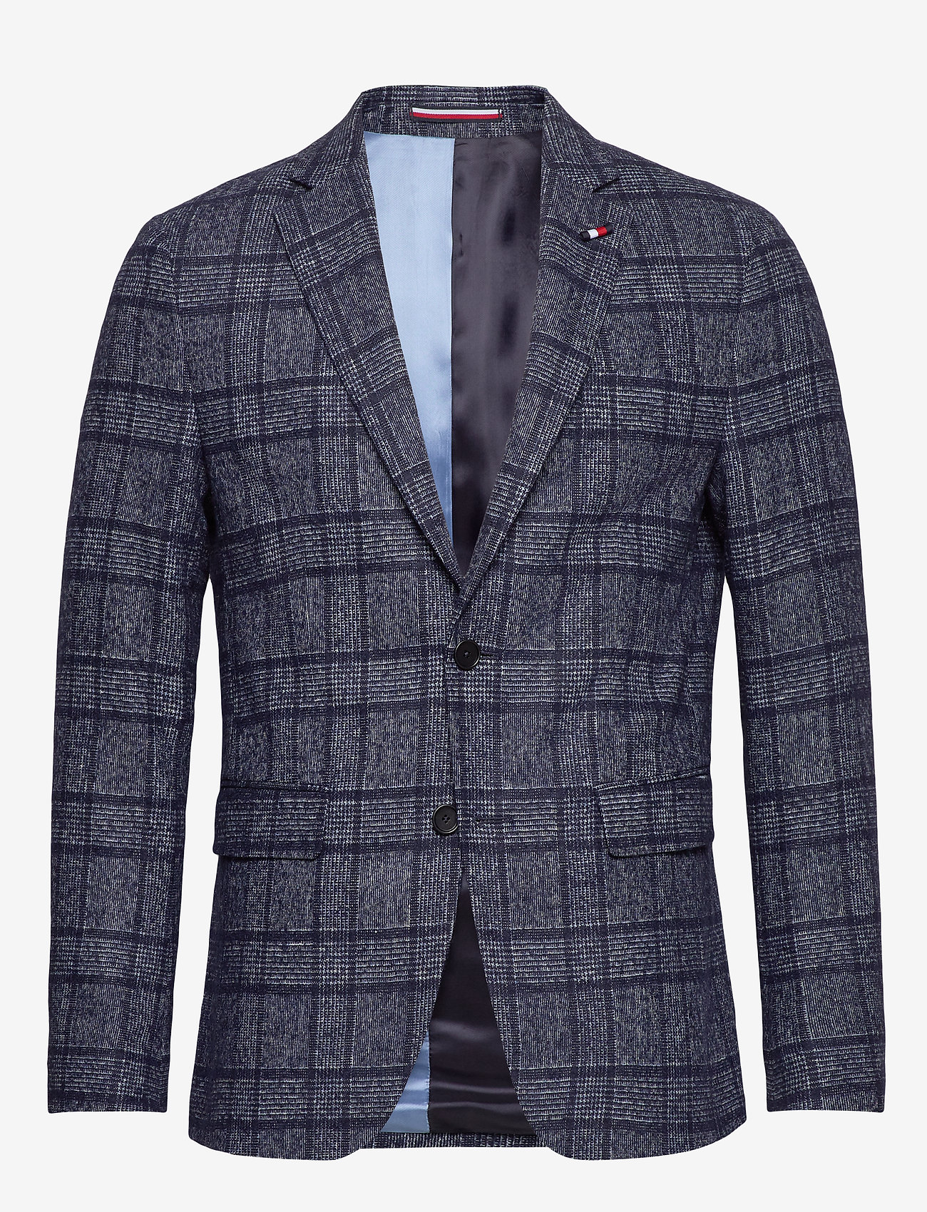 Tommy Hilfiger Tailored - SOFT CONSTR SLIM FIT CHK BLZ - blazers à boutonnage simple - navy/white - 0