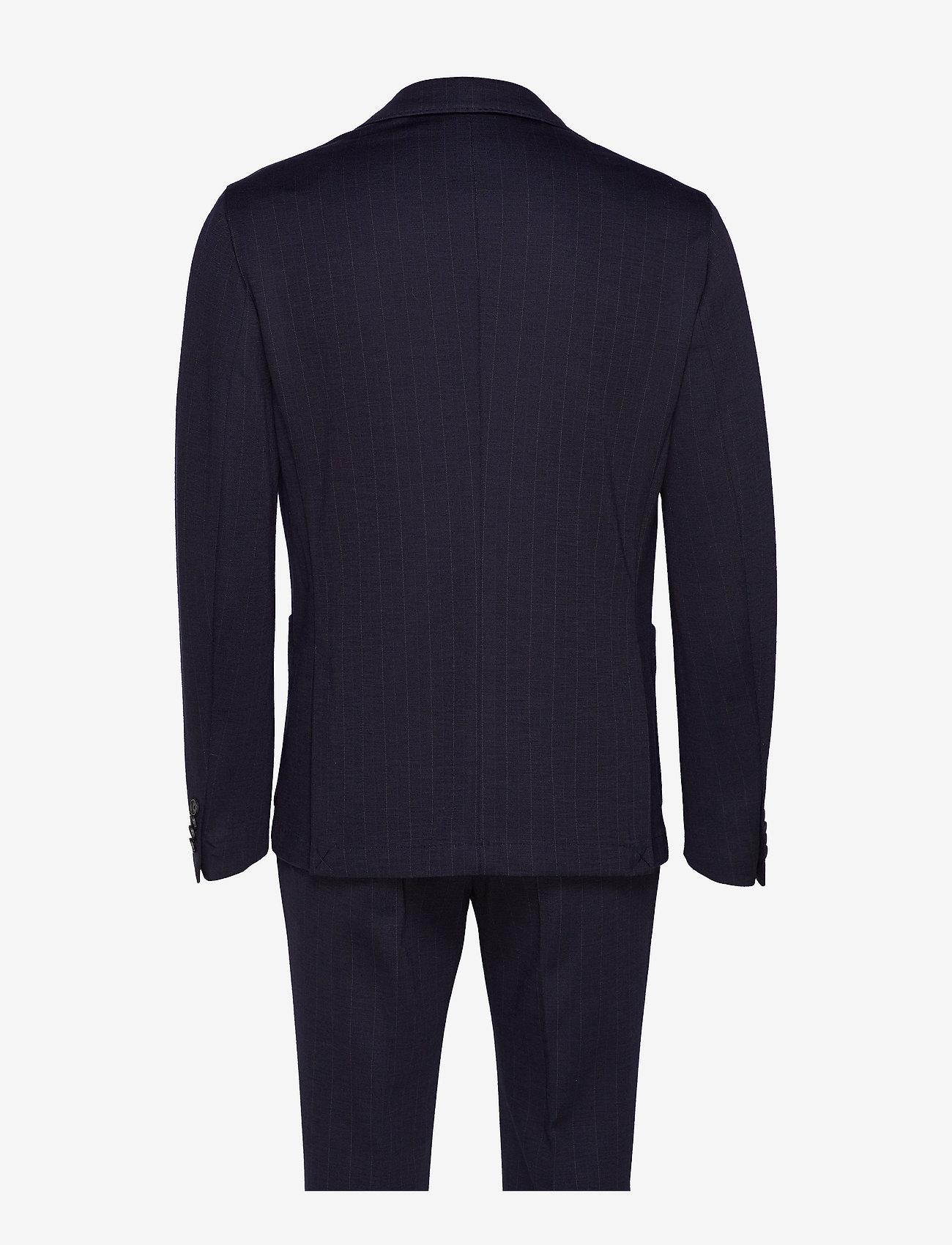 Tommy Hilfiger Tailored - PACKABLE SLIM FLEX STRIPE SUIT - kombinezony jednorzędowe - dessert sky/blue - 1
