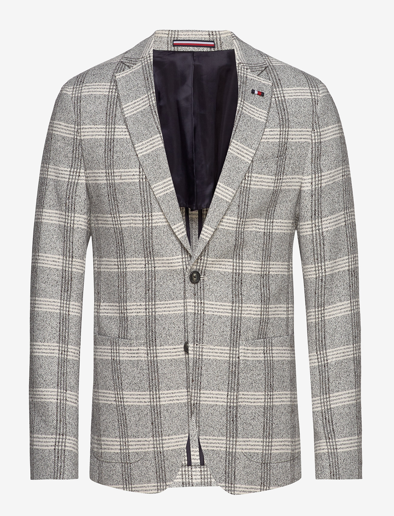 Tommy Hilfiger Tailored - SOFT CONSTRUCTED CHE - blazers à boutonnage simple - white check 05 - 0