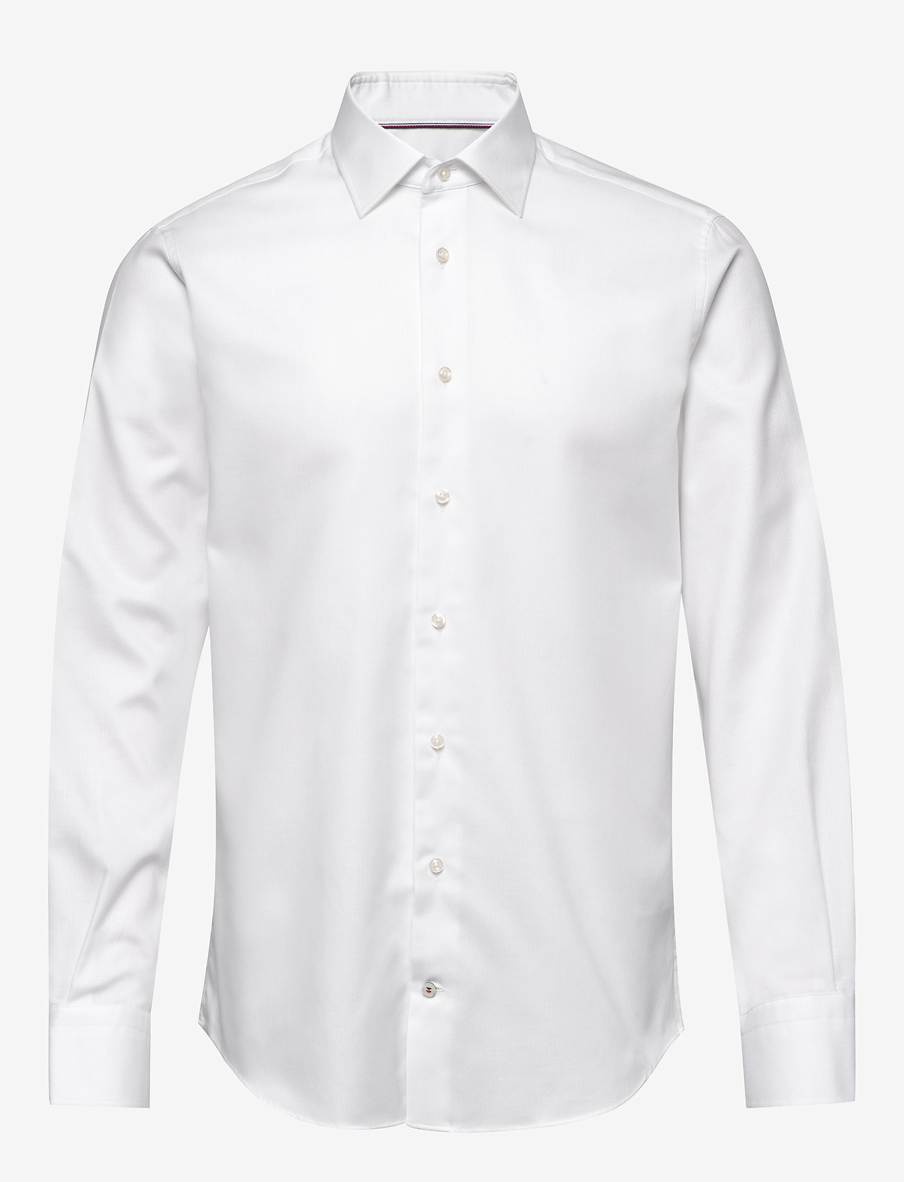 Tommy Hilfiger Tailored - HERRINGBONE FLEX COLLAR SHIRT - basic skjorter - white - 0