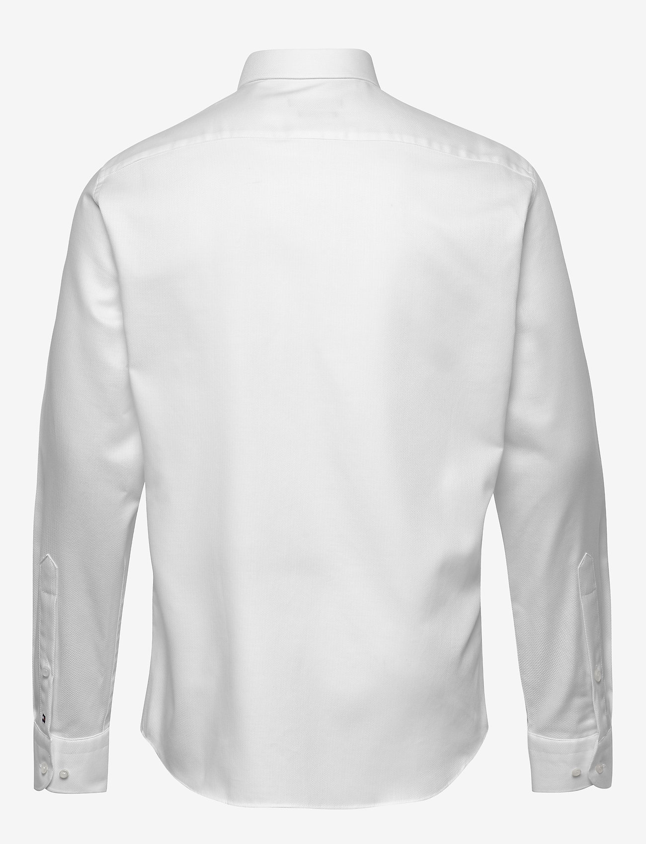 Tommy Hilfiger Tailored - HERRINGBONE FLEX COLLAR SHIRT - basic skjorter - white - 1