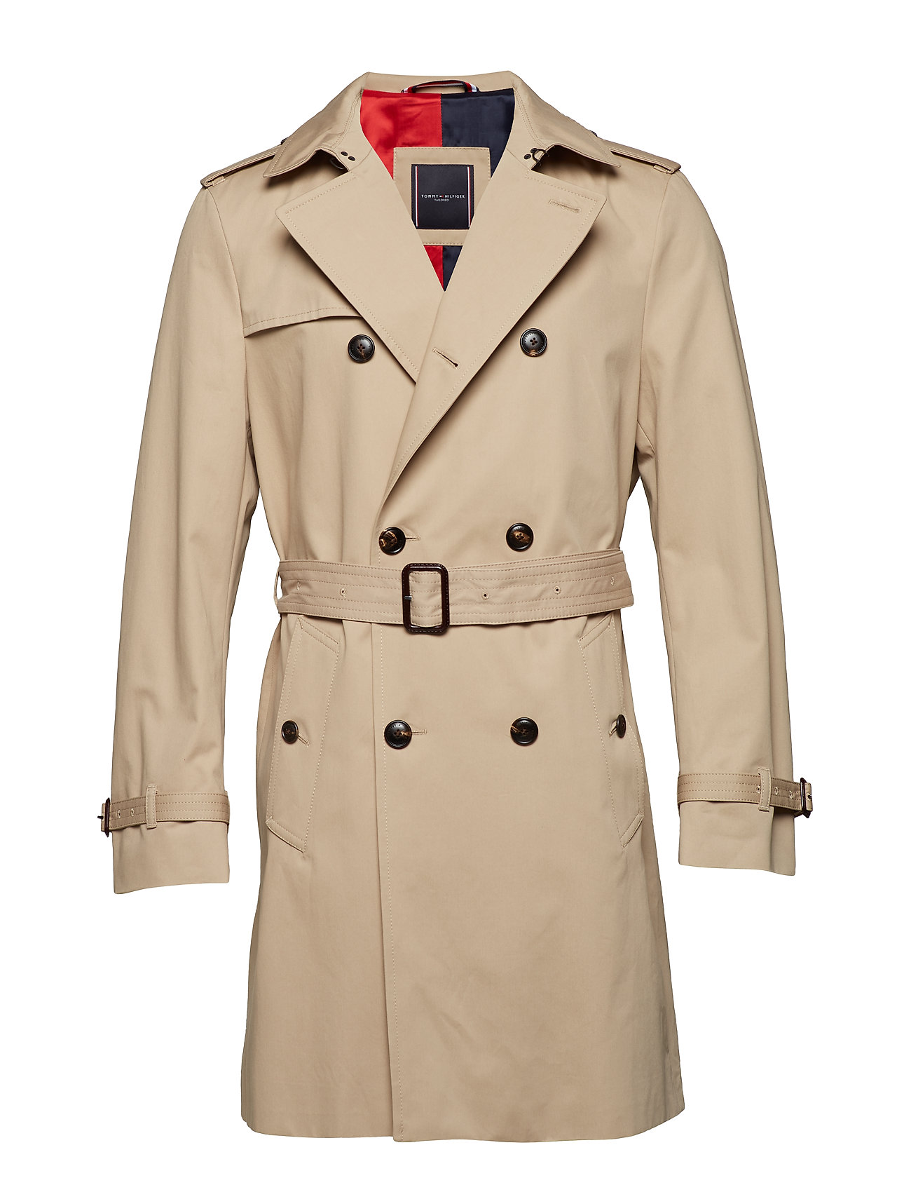 Tommy Hilfiger Tailored COTTON TRENCH COAT, - CAMEL