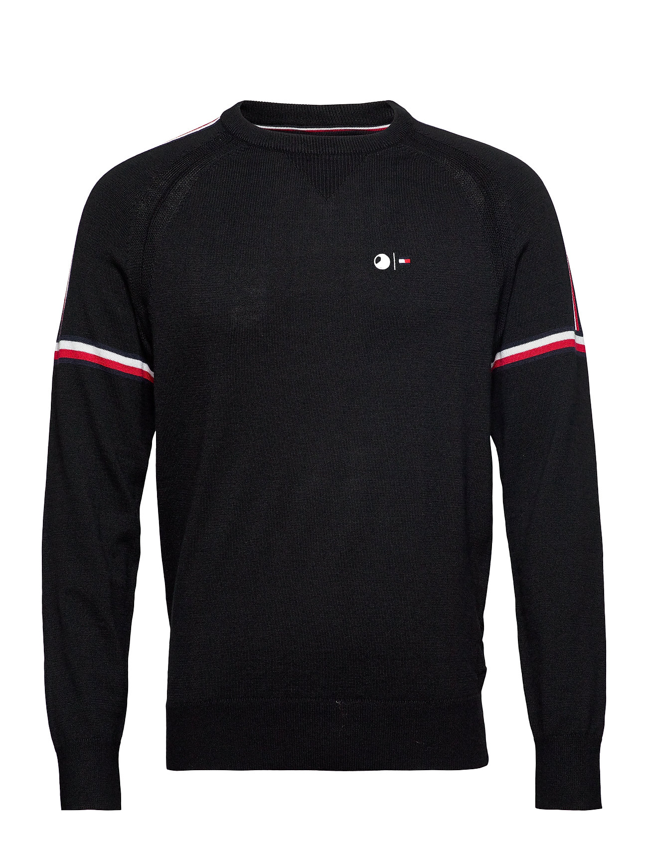 Tommy Hilfiger Tailored 2 MB TECH STRIPE SWEATER - JET BLACK