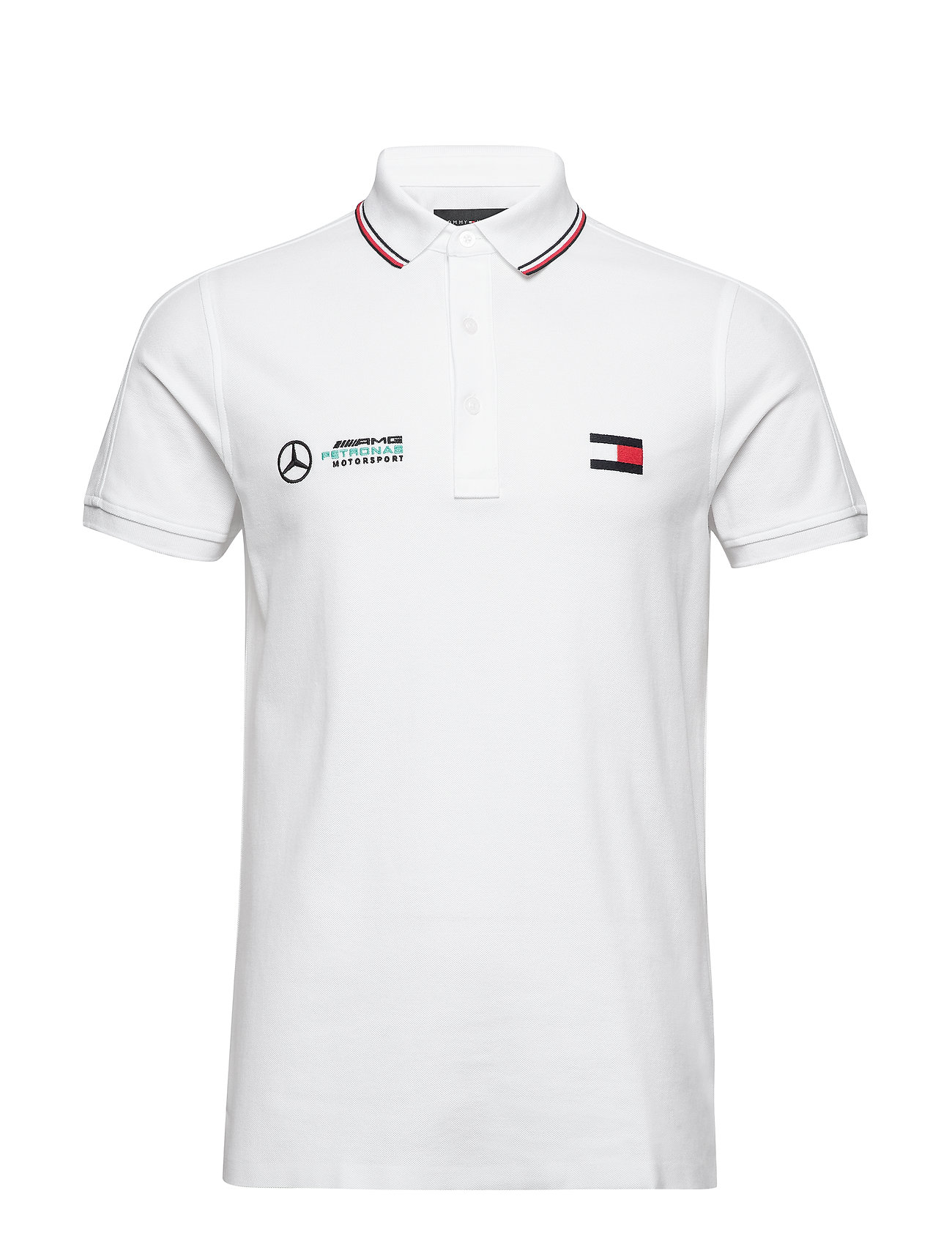 Tommy Hilfiger Tailored 1 MB LOGO POLO - BRIGHT WHITE