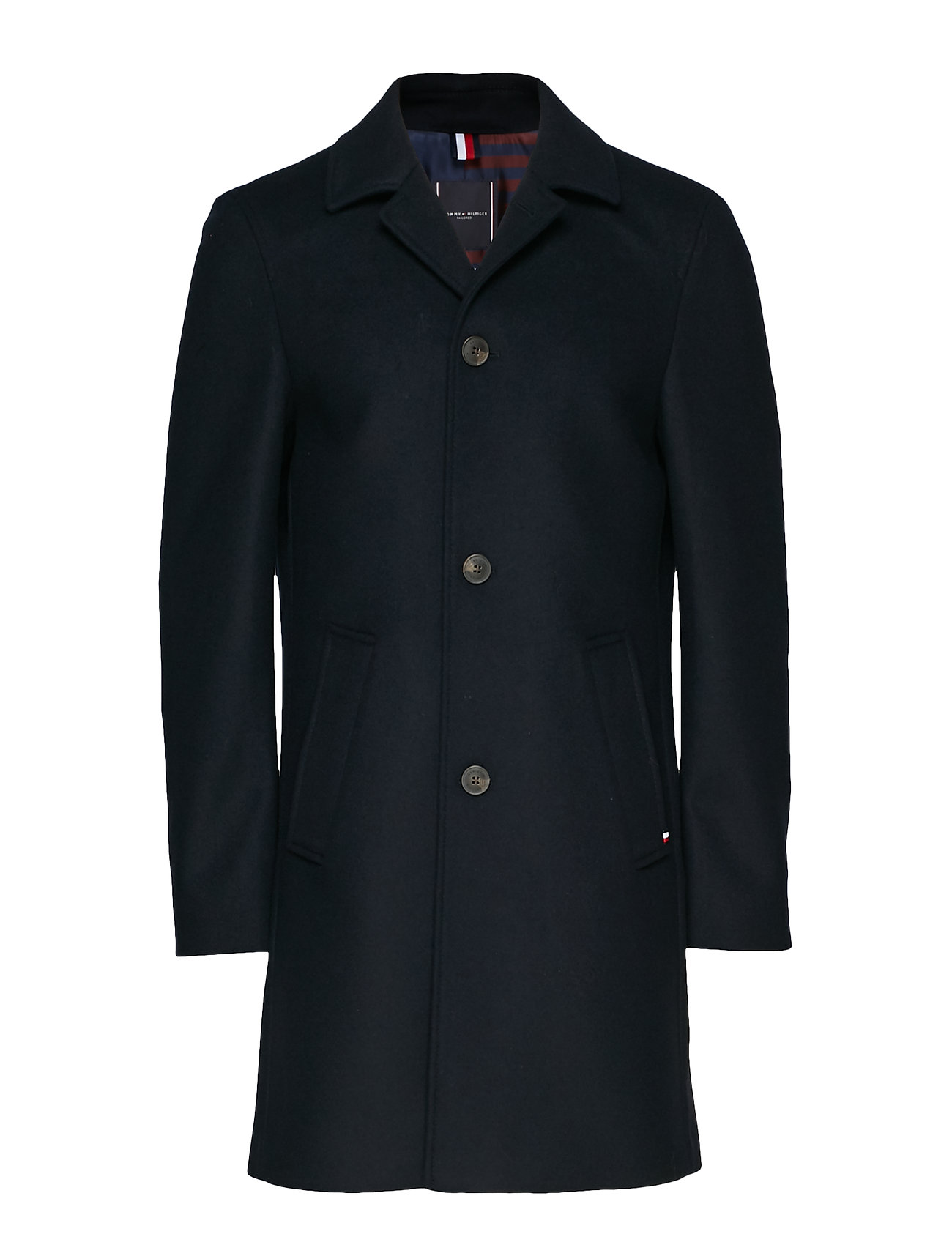 Tommy Hilfiger Tailored WOOL BLEND OVERCOAT, - DESERT SKY