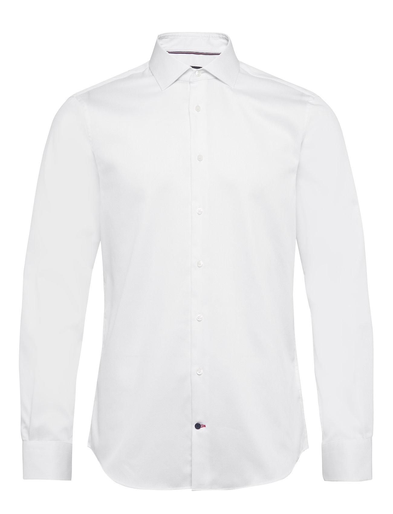 Tommy Hilfiger Tailored DOBBY FLEX COLLAR SLIM SHIRT - WHITE