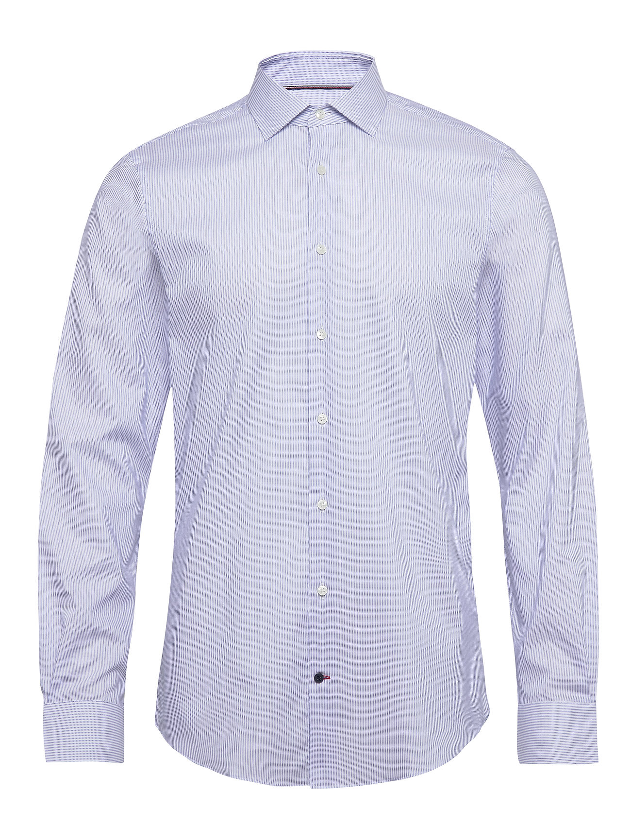 Tommy Hilfiger Tailored STRIPE FLEX COLLAR SLIM SHIRT - COBALT/WHITE