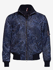 Tommy Hilfiger Tailored - PRINTED FLIGHT BOMBE - bomber jackets - navy blazer - 0