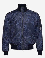 Tommy Hilfiger Tailored - PRINTED FLIGHT BOMBE - bomber jackets - navy blazer - 1