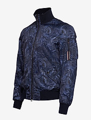 Tommy Hilfiger Tailored - PRINTED FLIGHT BOMBE - bomber jackets - navy blazer - 2