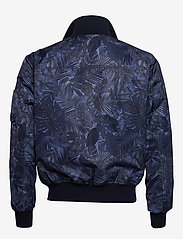 Tommy Hilfiger Tailored - PRINTED FLIGHT BOMBE - bomber jackets - navy blazer - 3