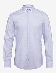 Tommy Hilfiger Tailored - STRIPE FLEX COLLAR SLIM SHIRT - basic skjorter - cobalt/white - 0